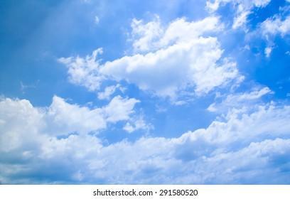 blue Sky and clouds closeup