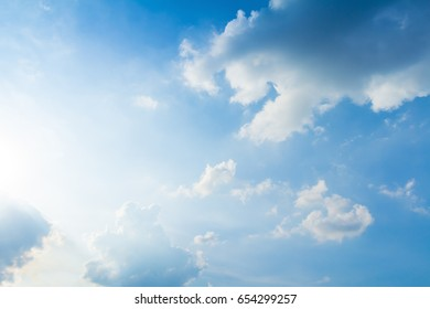 blue sky and clouds in good weather days