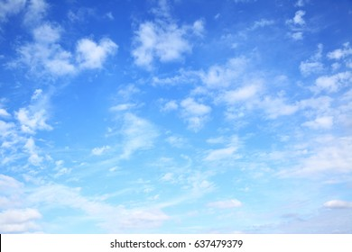 Blue sky with clouds -- natural background