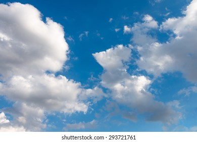 Blue sky and clouds nature
