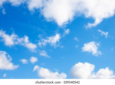 Blue sky with clouds. Nature background