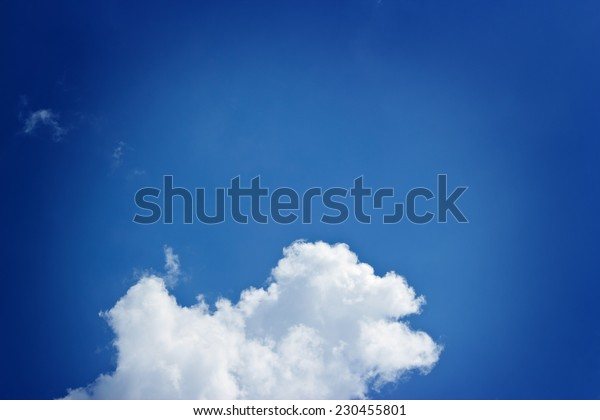 blue sky clouds and space for background