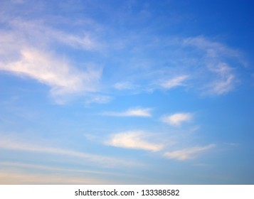The blue sky and clouds in a summer day