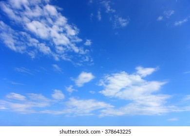 Blue sky and clouds in summer day