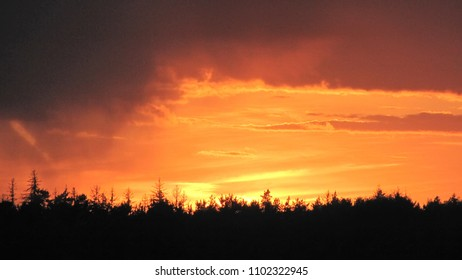 Blue sky and clouds at sunset