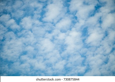 Blue sky with clouds. Texture Background