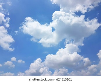 Blue sky and cloudy background