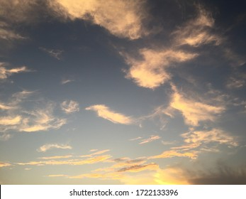 Blue sky cloudy and sunset background.