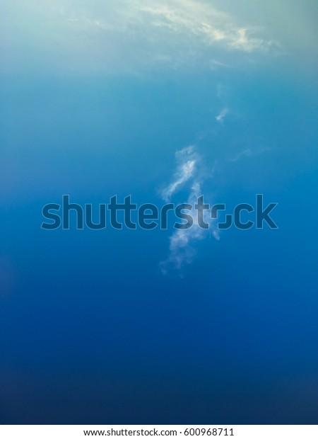 blue sky with clound gradient tone