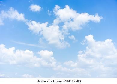 blue sky cumulus cloud, beautiful natural for background