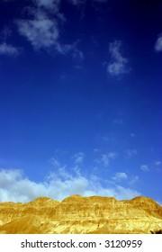 Blue sky in the desert