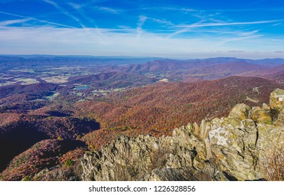 blue sky and fall in shenandoah