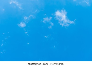 blue sky with fine cloud formation