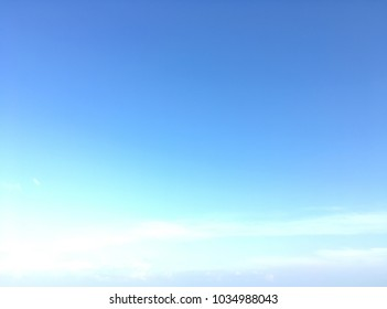 Blue sky gradient background with beautiful white clouds.Nature concept.