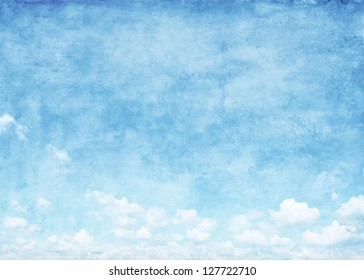 Blue sky grunge background.