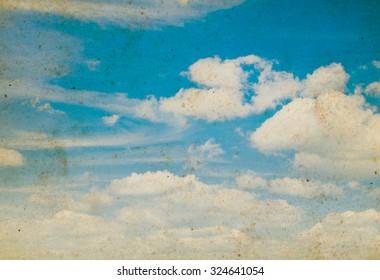 Blue sky grunge background