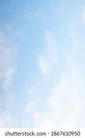blue sky haze of white clouds, background.