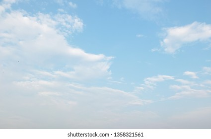 Blue sky in the morning with cloud in the Thailand.
