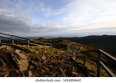 blue sky in the mountain. Landscape - panorama of Bieszczady