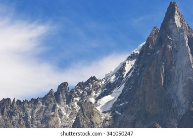 Blue Sky and Mountain Top Scenery