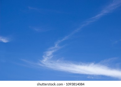 Blue sky with natural cloud brushstroke - abstract