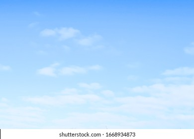 Blue sky on a clear sunny day, light cloudiness on a sky background.