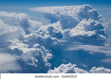 blue sky on white soft cloud height