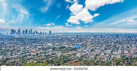 blue sky over Los Angeles, California