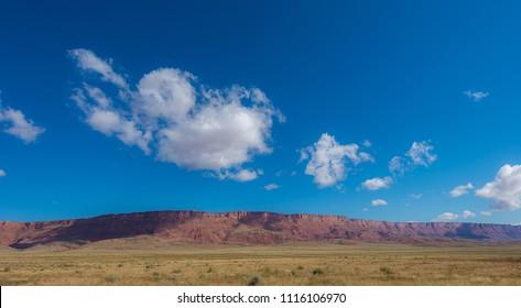 Blue sky over mountain in Utah