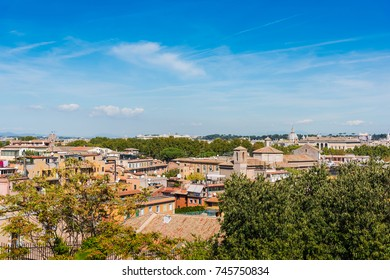 Blue sky over Rome, Italy
