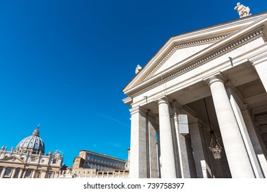 Blue sky over Saint Peter's square in Vatican City