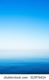 Blue sky over the sea in summer