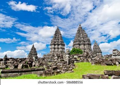 Blue Sky Prambanan Temple