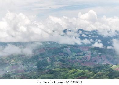 blue sky at pu chi fa, Chiang rai : Thailand