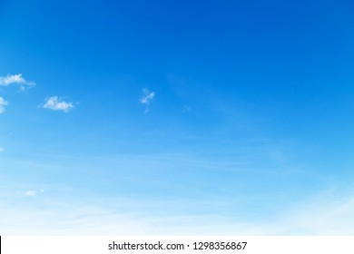 blue sky with puffy cloud