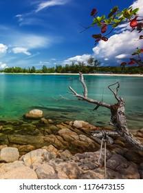 Blue Sky and Rock at Bintan Island Wonderfull Indonesia
