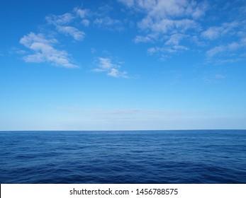 Blue sky and sea of horizon