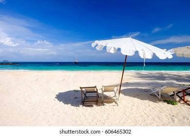 Blue Sky and Blue Sea  at Maiton Island  Phuket Thailand