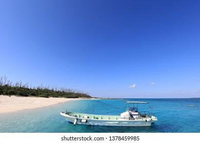 Blue sky and sea of Okinawa.