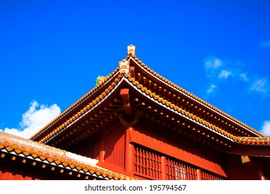 Blue sky and Shuri Castle, Okinawa