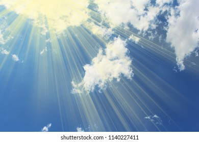 Blue sky and sunlight and cloud