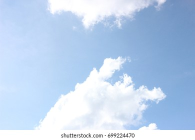 Blue sky texture background. Japanese sky.