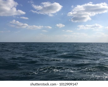 Blue sky Blue water HD wallpaper, ocean clouds and sky image clicked at Persian Gulf