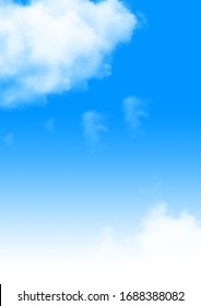 Blue Sky with White Background