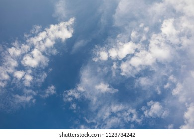 Blue sky and white cloud background - Shutterstock ID 1123734242