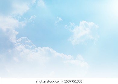 blue sky and white cloud beautiful background