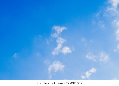 BLue sky and White cloud: clear blue sky with plain white cloud with space for text