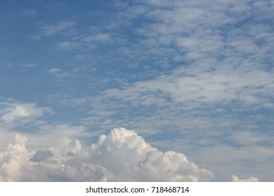 blue sky and white cloud, natural for background