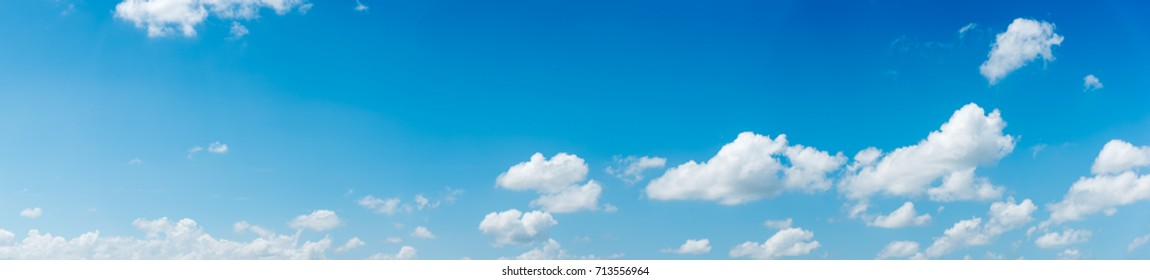 blue sky and White cloud nature panorama.