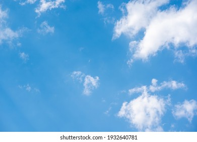 Blue sky and white cloud on daytime background on nature, beautiful scenic sky nature view, clouds on half photo wallpaper, abstract atmosphere of high outdoors to freedom of lifestyle for creative